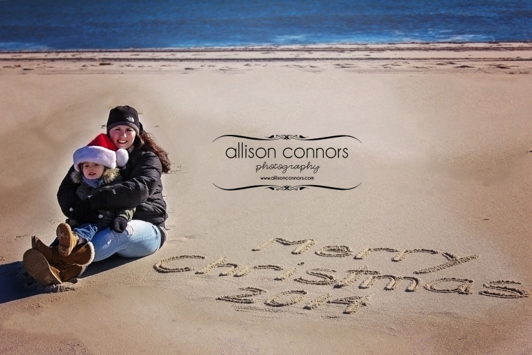 Heather & Matthew on the Beach with Logo